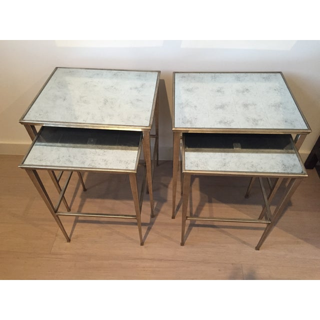 Restoration hardware nesting side tables a pair chairish for Restoration hardware bedside tables