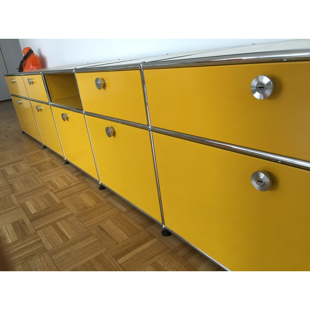 Golden Yellow USM Haller Credenza - Image 4 of 6