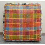 Image of Hand Woven Kilim Floor Cushion Turkish Sitting Pillow- 22″ X 22″