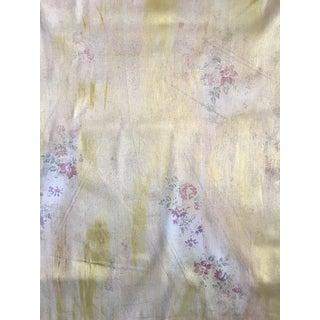 Ralph Lauren Gold Lamé Floral Fabric