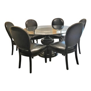Nebraska Furniture Glass Top Dining Set