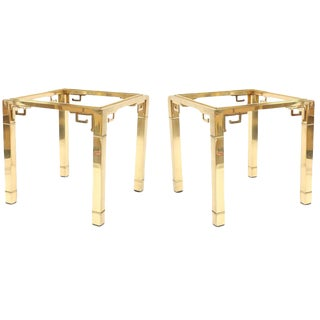 Pair of Mastercraft Side Tables with Greek Key Detail