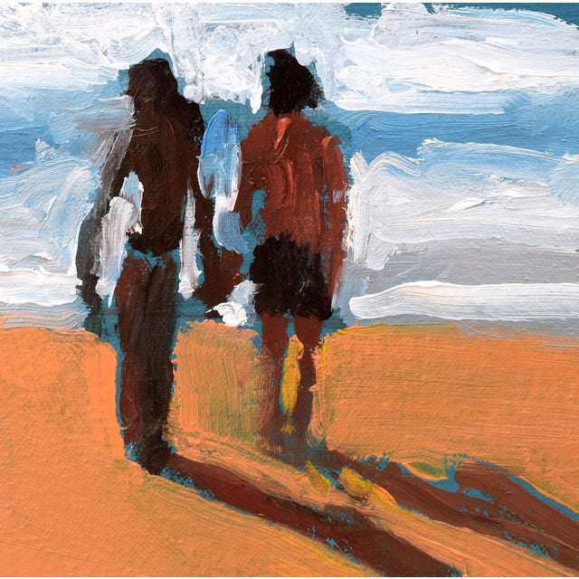 Small Sea With Couple Oil Painting - Image 9 of 10