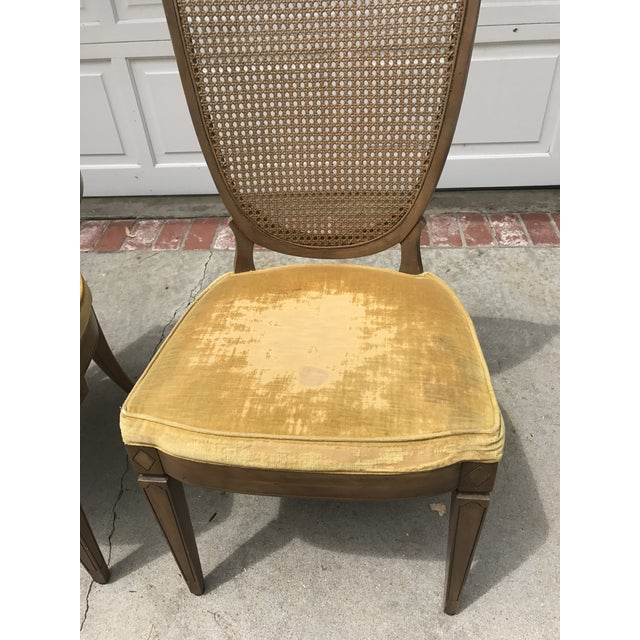 Vintage Caned Back Chairs - A Pair - Image 3 of 7