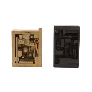 Pair of Assemblage Wood Sculptures after Louise Nevelson