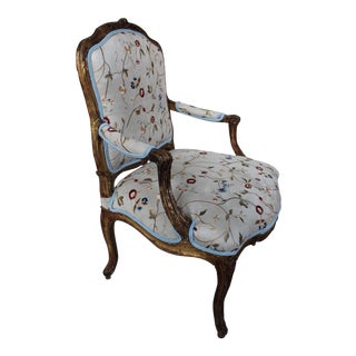 Antique Louis XV Style Gilt-Wood Arm Chair