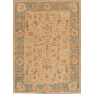 "Modern Turkish Oushak Rug- 10'1"" X 13'9"""