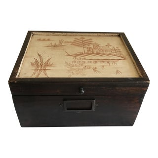 Asian Solid Wood Box