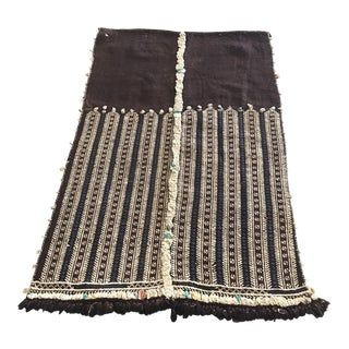 """Old Moroccan Flat Weave Rug 1'6"""" X 2'5"""""""