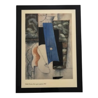 "Lacquered ""Gas Lamp & Guitar"" Picasso Print"