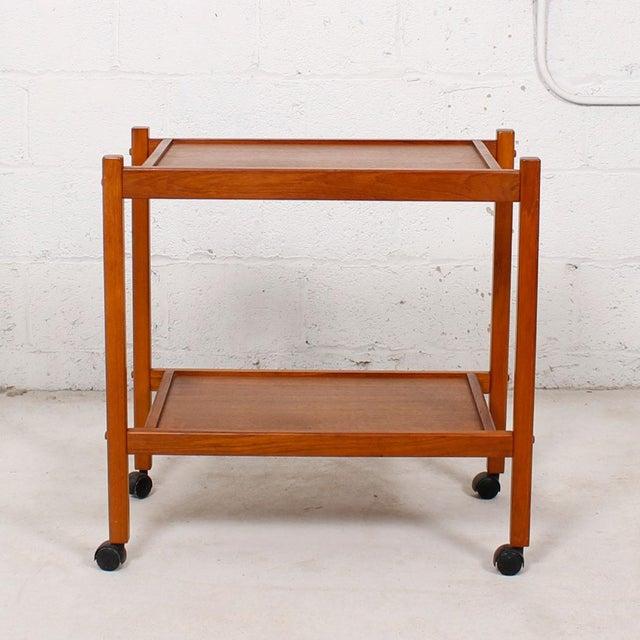 Compact Teak Bar/Serving Cart - Image 4 of 7