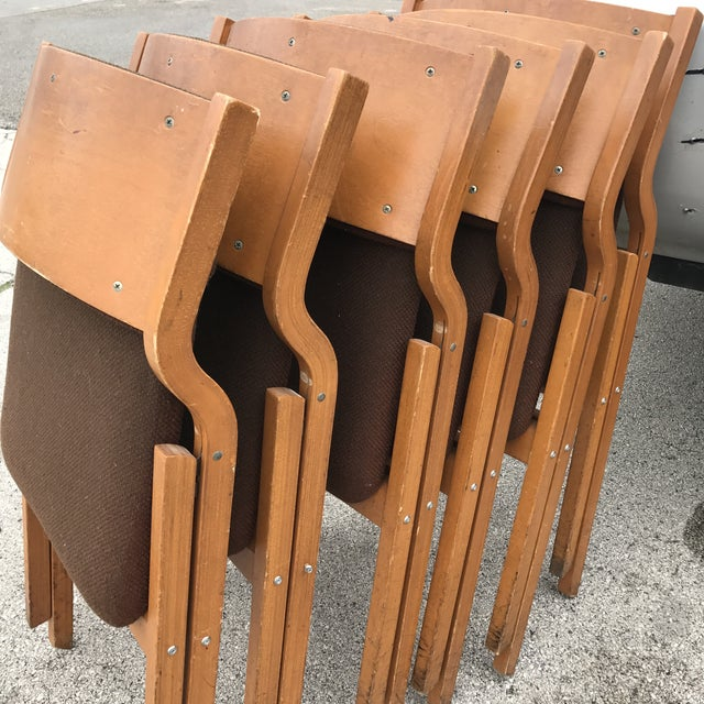 Mid-Century Modern Folding Chairs - Set of 6 - Image 7 of 8