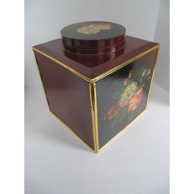Image of Floral Laquer Box