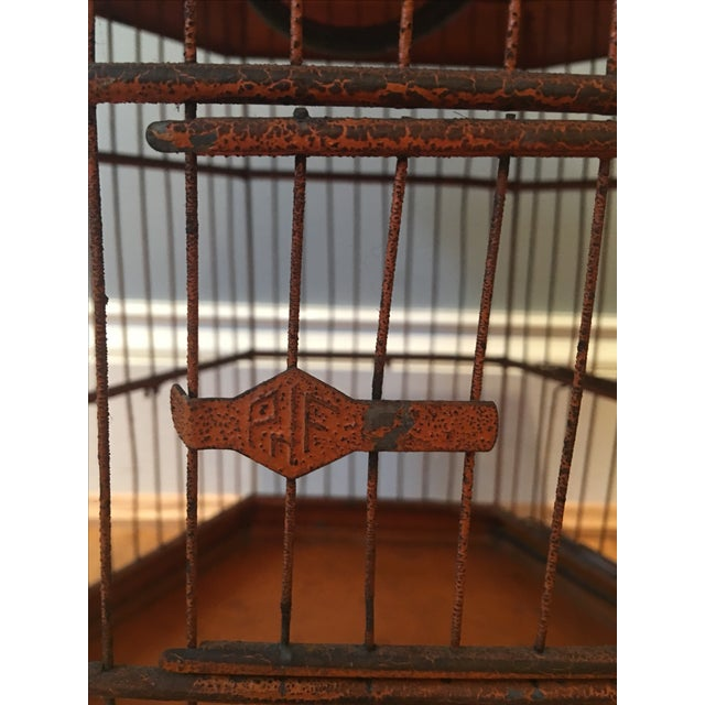 Antique 1920s Pnf Birdcage & Decorative Stand - Image 9 of 9