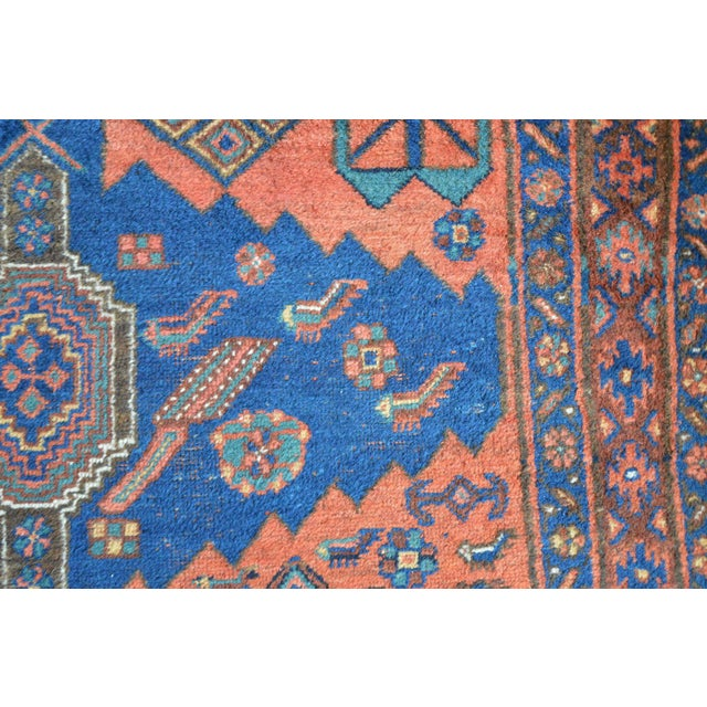 "Antique Persian Bidjar Long Rug - 4'5"" x 8'3"" - Image 8 of 9"