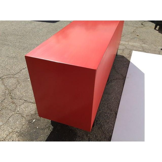 American of Martinsville Vintage Asian Red Dresser - Image 11 of 11