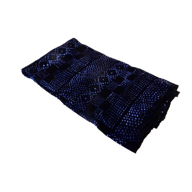 Mali Indigo Mud Cloth Textile - Image 2 of 4