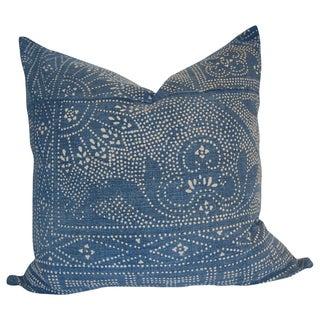 """""""Ace"""" Indigo Batik Pillow"""