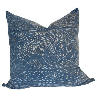 """Ace"" Indigo Batik Pillow"