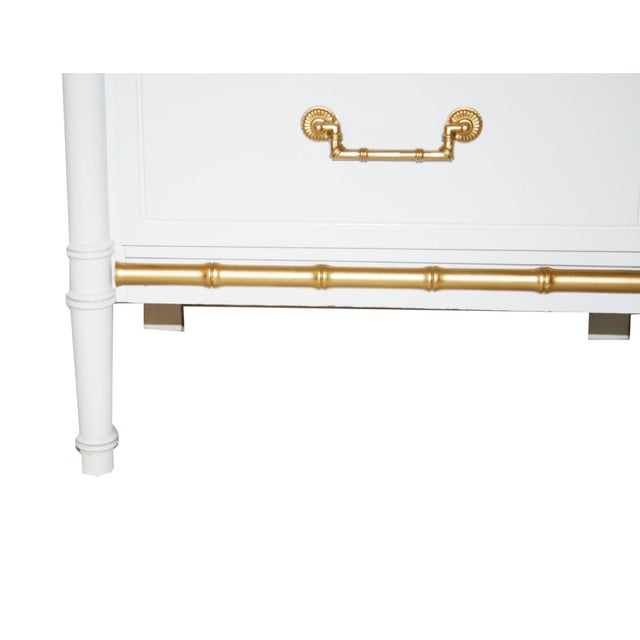Henry Link White Faux Bamboo Nightstands - A Pair - Image 6 of 6