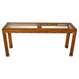 Faux-Bamboo Wood Console