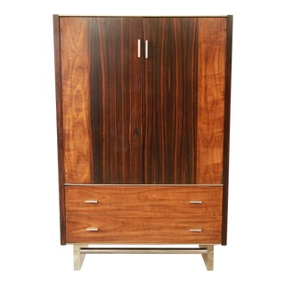 Milo Baughman Style Rosewood & Lucite Floating Armoire