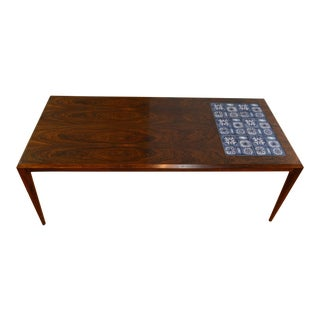 Johannes Andersen Rosewood & Tile Coffee Table