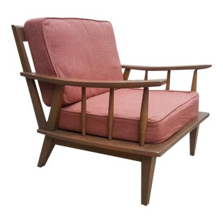 1960's Mid-Century Wood Frame Lounge Chair
