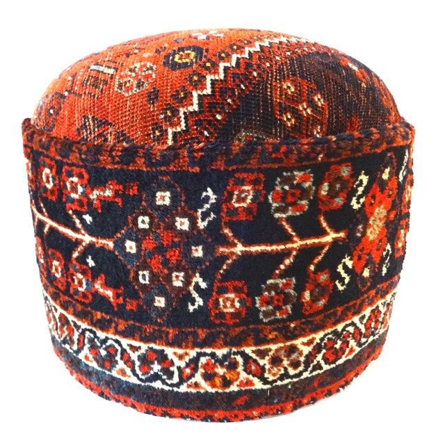 Antique Tribal Qashqa'i Upholstered Ottoman - Image 1 of 6