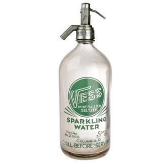 Vintage Vess Soda Seltzer Bottle