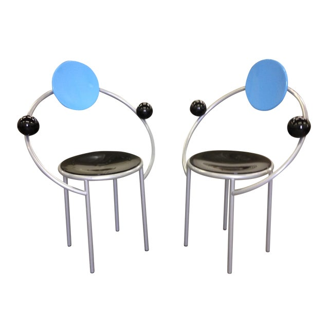 Michele De Lucchi Memphis First Chairs - Pair - Image 1 of 9
