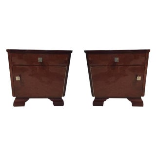French Art Deco Nightstands - A Pair