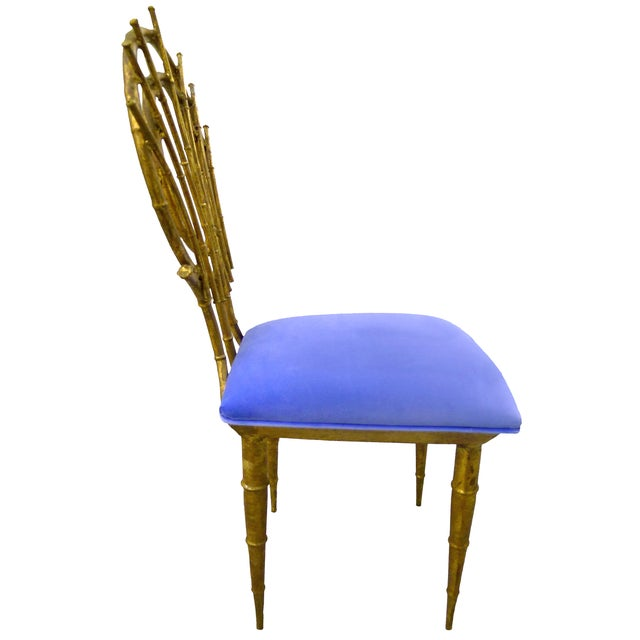 1960s Petite Gilt Bamboo-Style Chairs - A Pair - Image 3 of 7