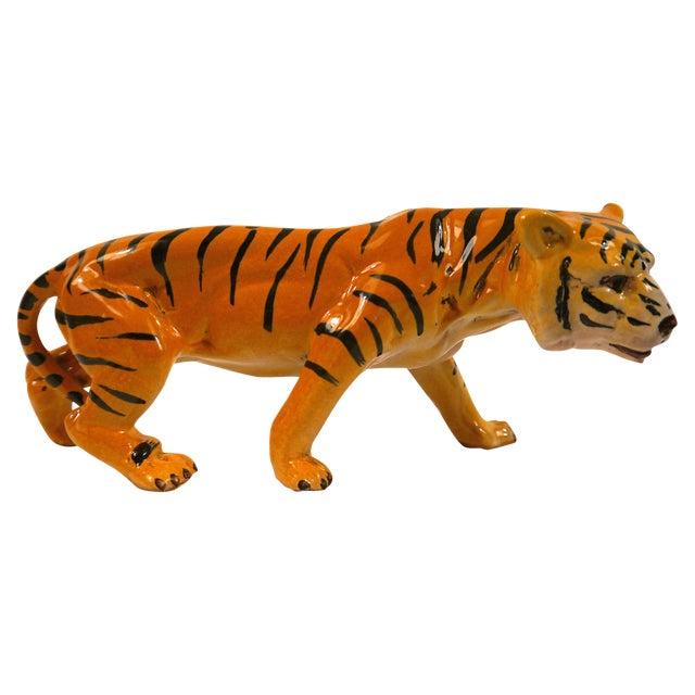 Image of 1950's Ceramic Italian Tiger
