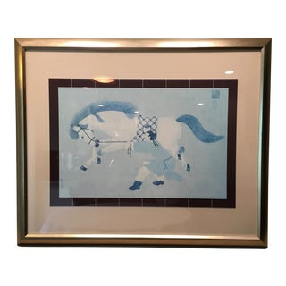 Asian Framed Horse Print