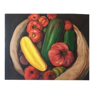 "Original Painting - ""Farmers Market Vegetables"""