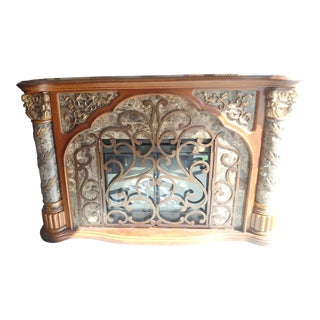 Michael Amini Fireplace Mantel