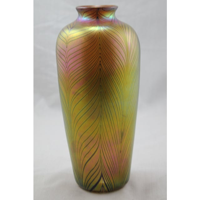 Contemporary Steuben Style Gold Vase - Image 5 of 11