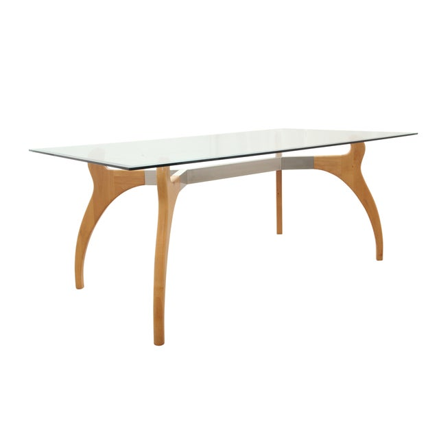 Mid Century Modern Glass Table - Image 2 of 7