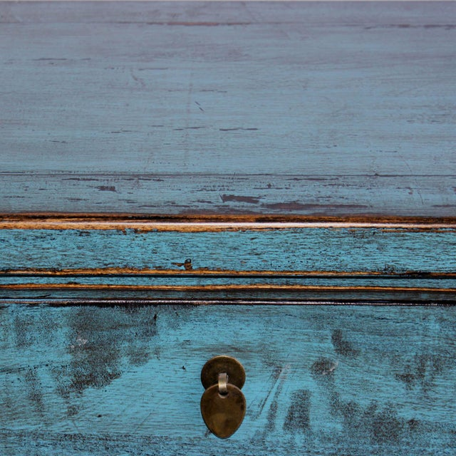 Blue Reclaimed Elm Wood Sideboard - Image 5 of 8