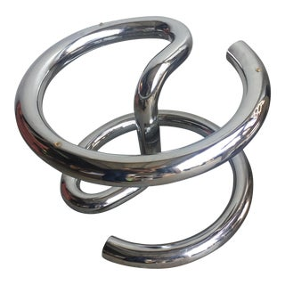Paul Tuttle for Strässle Chrome Anaconda Coffee Table