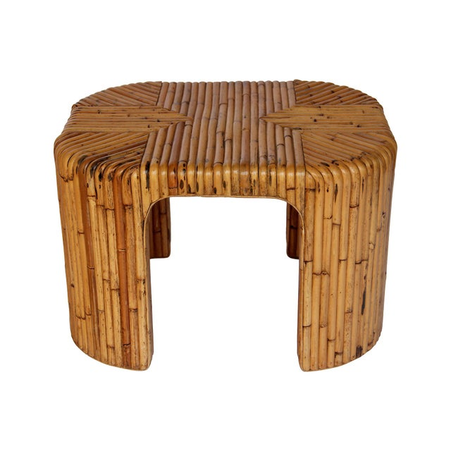 Image of Mid-Century Bamboo Side Table