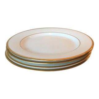 Vintage Nikko Brass-Rimmed Plates - Set of 4