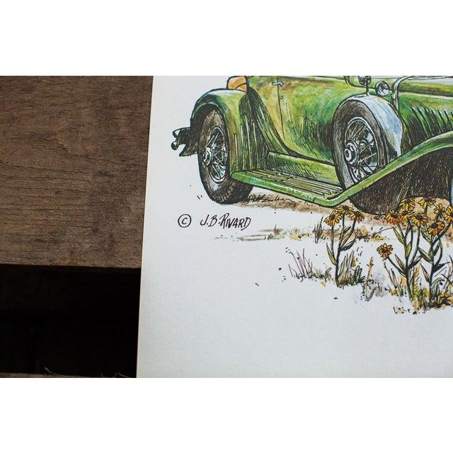 Image of Duesenberg Car Vintage Lithograph