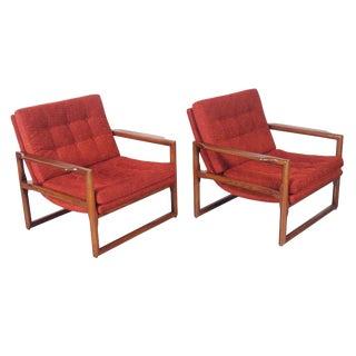 "Vintage Milo Baughman ""Cube"" Lounge Chairs - Pair"