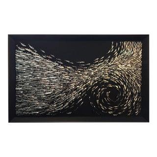 SURGE - 3-D art work of metallic mackerel by Daniel Byrne