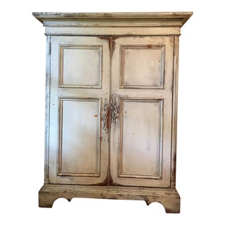 French Country Style Distressed Cabinet