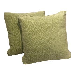Large Apple Green Pillows - a Pair