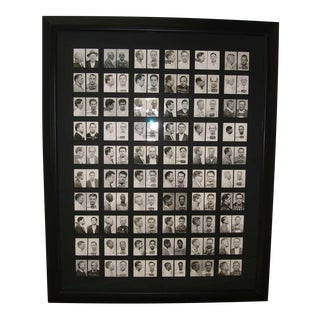 60 Framed Original Mugshots from 1950s and 1960s