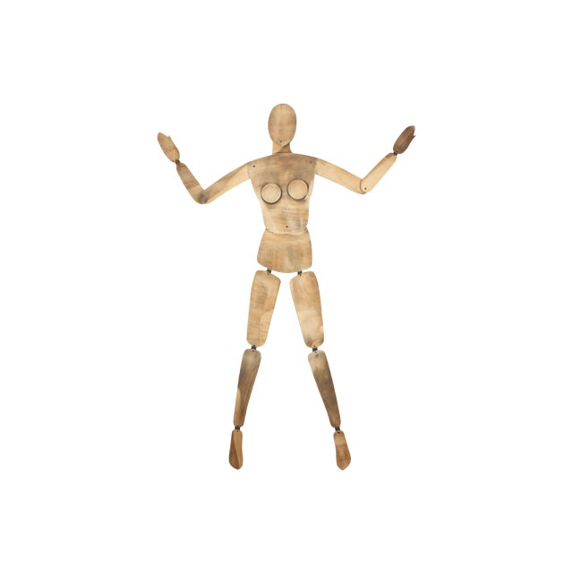 French Wood Mannequin, Female - Image 1 of 5
